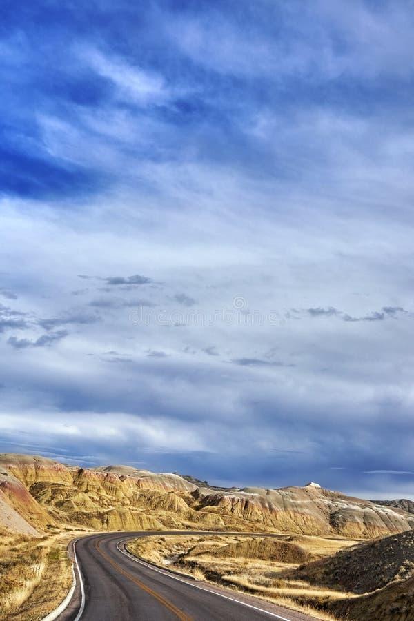 Φυσικός δρόμος στο εθνικό πάρκο Badlands, νότια Ντακότα στοκ εικόνες με δικαίωμα ελεύθερης χρήσης