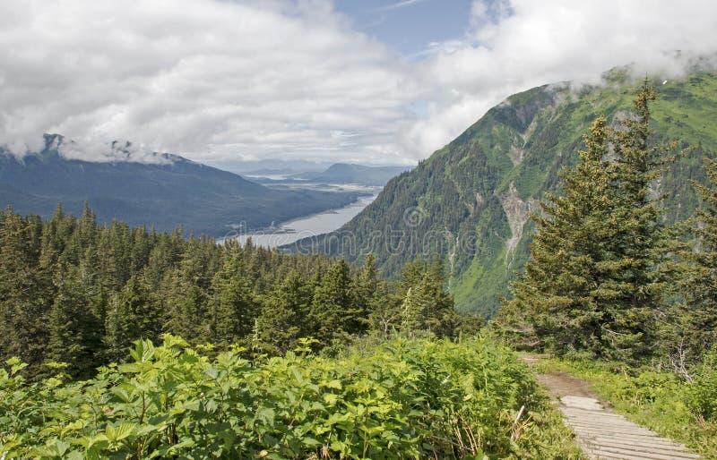 Φυσικό ίχνος σε Juneau Αλάσκα στοκ εικόνες με δικαίωμα ελεύθερης χρήσης