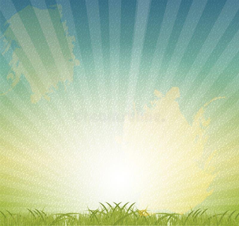 Φυσικό αναδρομικό διάνυσμα ανασκόπησης grunge floral διανυσματική απεικόνιση