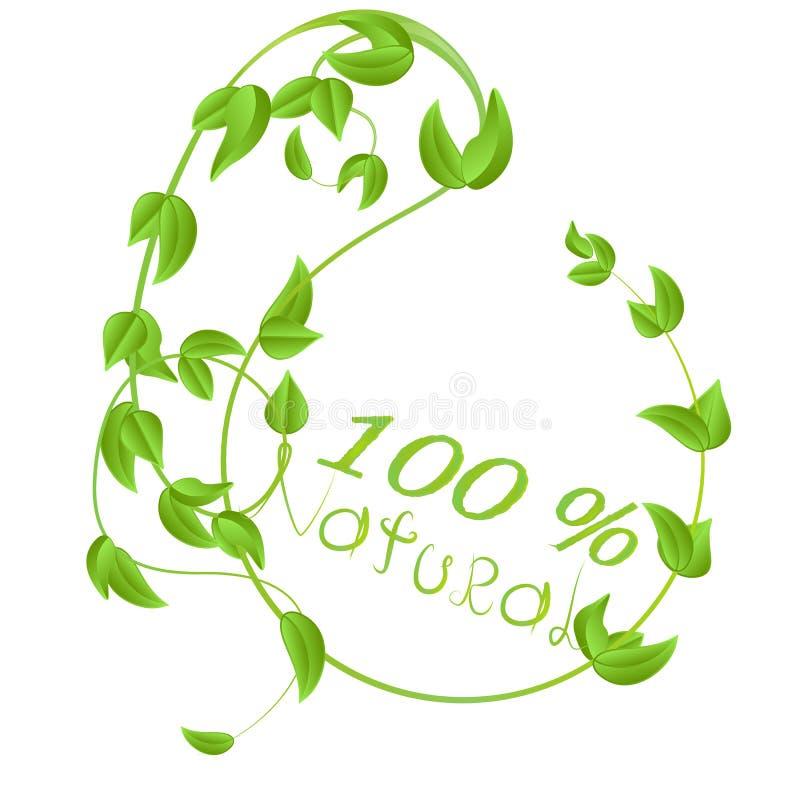 φυσικό διανυσματικό σχέδιο λογότυπων 100 σε ένα άσπρο υπόβαθρο διανυσματική απεικόνιση