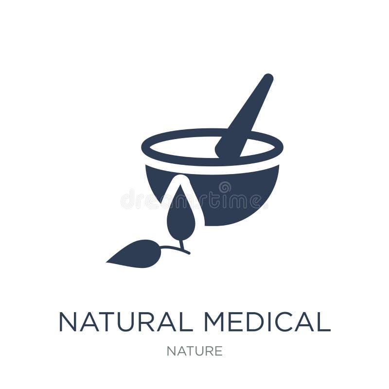 φυσικό ιατρικό εικονίδιο χαπιών Καθιερώνον τη μόδα επίπεδο διανυσματικό φυσικό ιατρικό π απεικόνιση αποθεμάτων