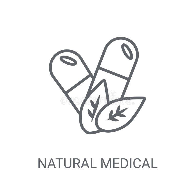 φυσικό ιατρικό εικονίδιο χαπιών Καθιερώνον τη μόδα φυσικό ιατρικό λογότυπο χαπιών διανυσματική απεικόνιση