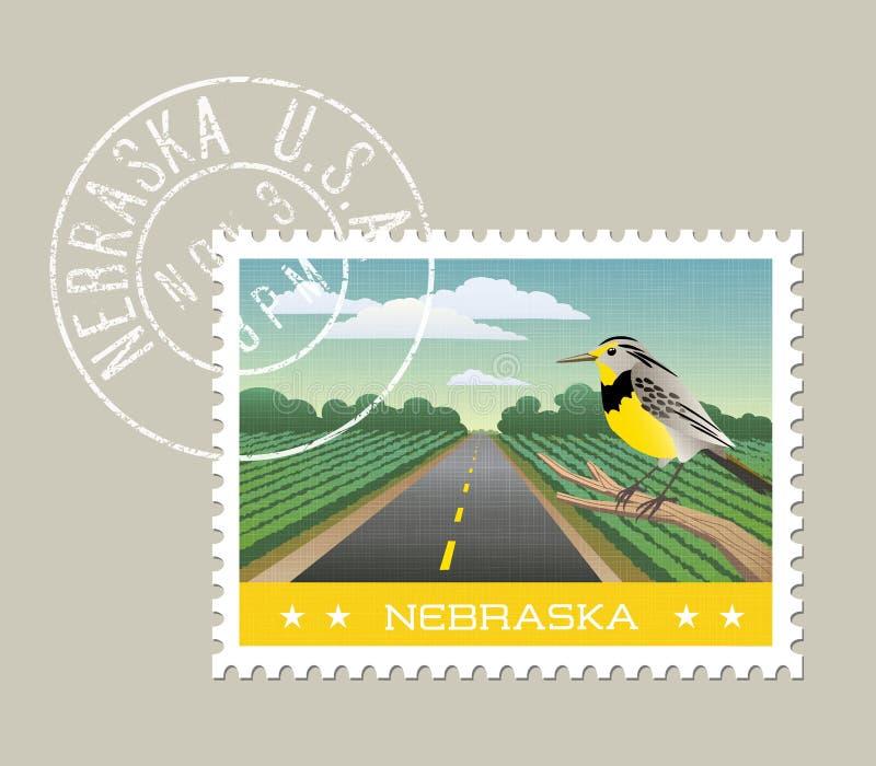 Φυσικό καλλιεργήσιμο έδαφος της Νεμπράσκας με Meadowlark ελεύθερη απεικόνιση δικαιώματος
