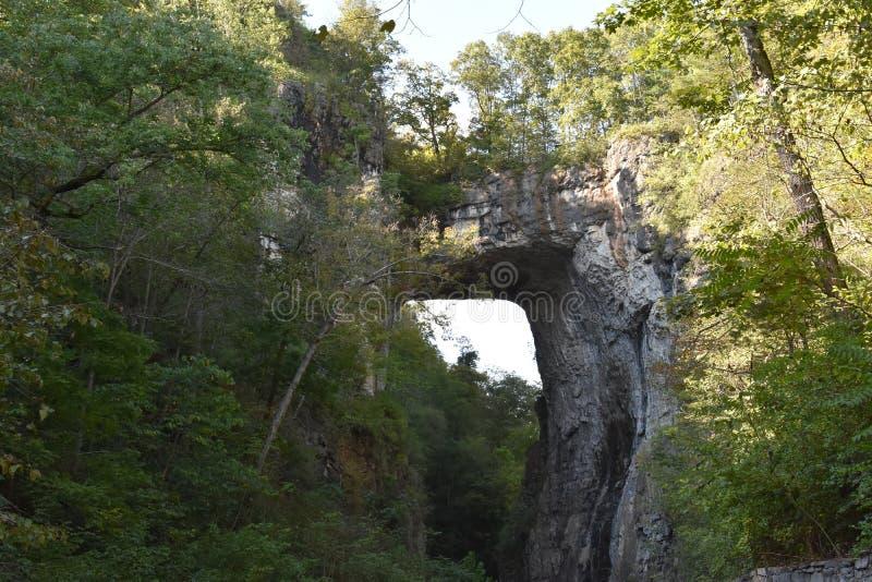 Φυσικό κρατικό πάρκο γεφυρών στη Βιρτζίνια στοκ εικόνες