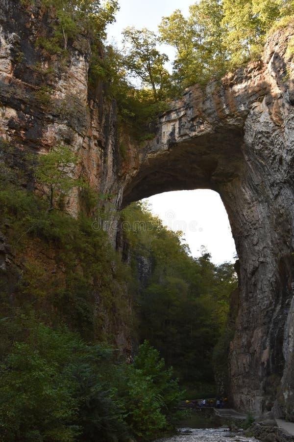 Φυσικό κρατικό πάρκο γεφυρών στη Βιρτζίνια στοκ φωτογραφία