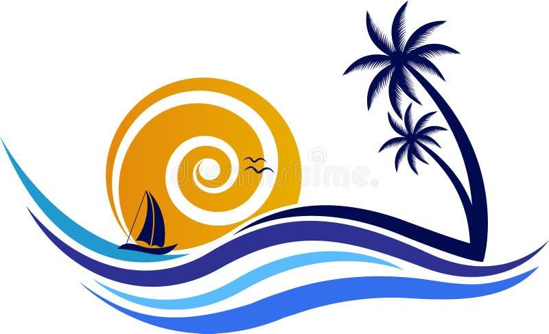 Φυσικό λογότυπο διανυσματική απεικόνιση