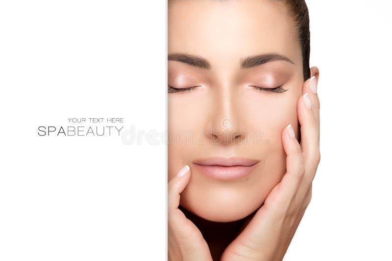 Φυσικό νέο πρόσωπο γυναικών Έννοια ομορφιάς SPA στοκ φωτογραφίες με δικαίωμα ελεύθερης χρήσης