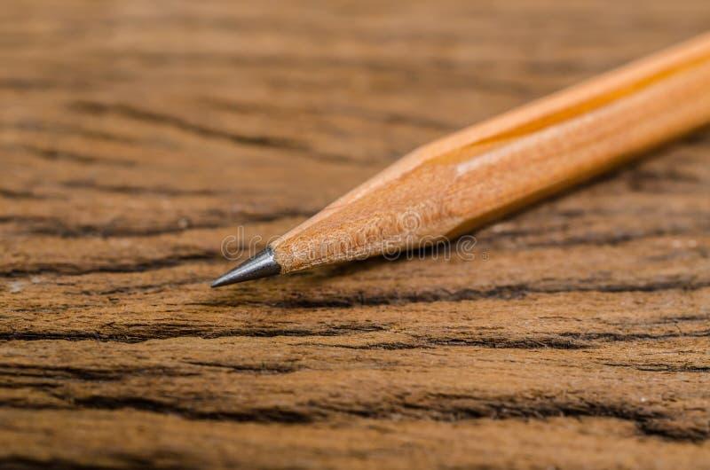 Φυσικό ξύλινο μολύβι στοκ φωτογραφίες
