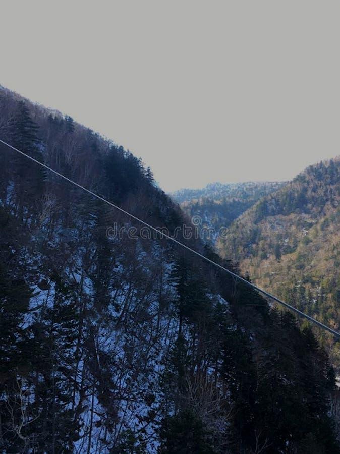 Φυσικό ορεινό τοπίο του Hokkaido Ιαπωνία πρόσφατο φθινόπωρο Ιαπωνία στοκ εικόνες με δικαίωμα ελεύθερης χρήσης