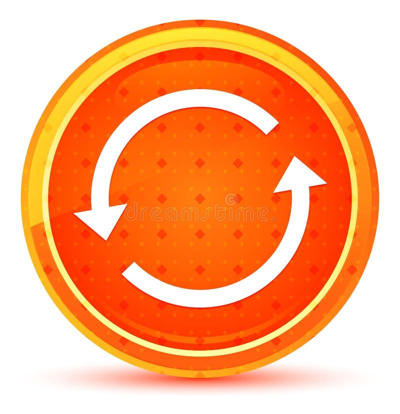 Φυσικό πορτοκαλί στρογγυλό κουμπί εικονιδίων βελών αναπροσαρμογών διανυσματική απεικόνιση
