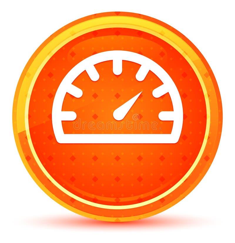 Φυσικό πορτοκαλί στρογγυλό κουμπί εικονιδίων μετρητών ταχυμέτρων απεικόνιση αποθεμάτων