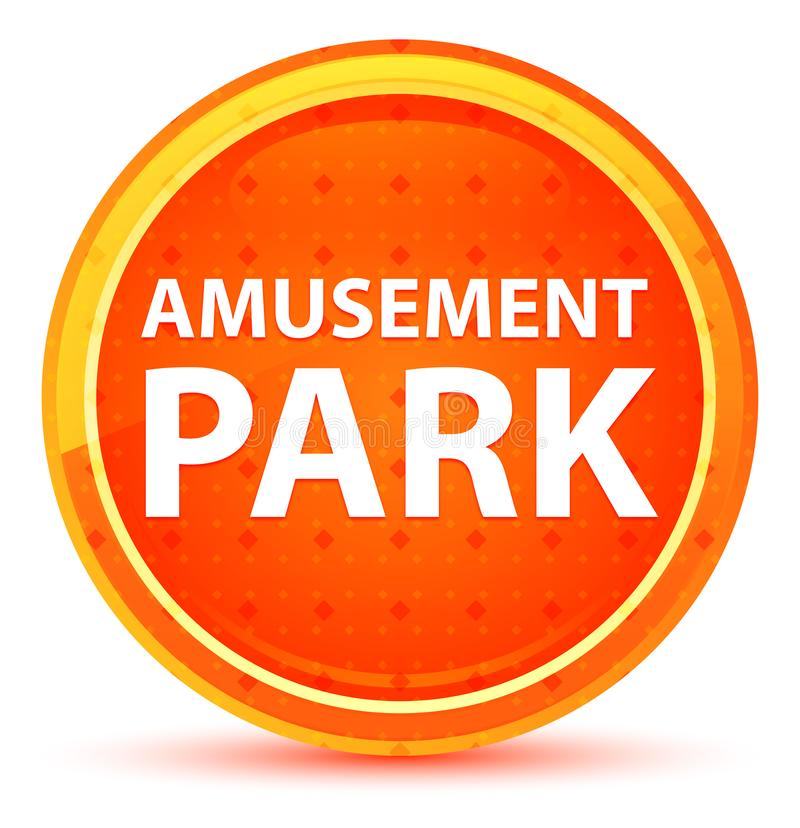 Φυσικό πορτοκαλί στρογγυλό κουμπί λούνα παρκ διανυσματική απεικόνιση