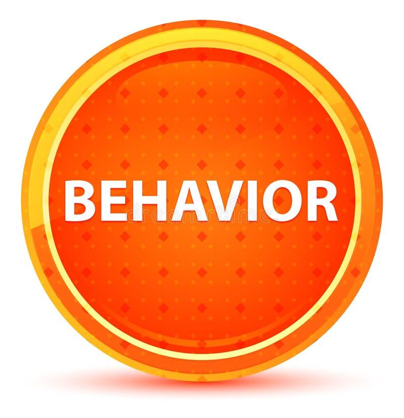 Φυσικό πορτοκαλί στρογγυλό κουμπί συμπεριφοράς ελεύθερη απεικόνιση δικαιώματος