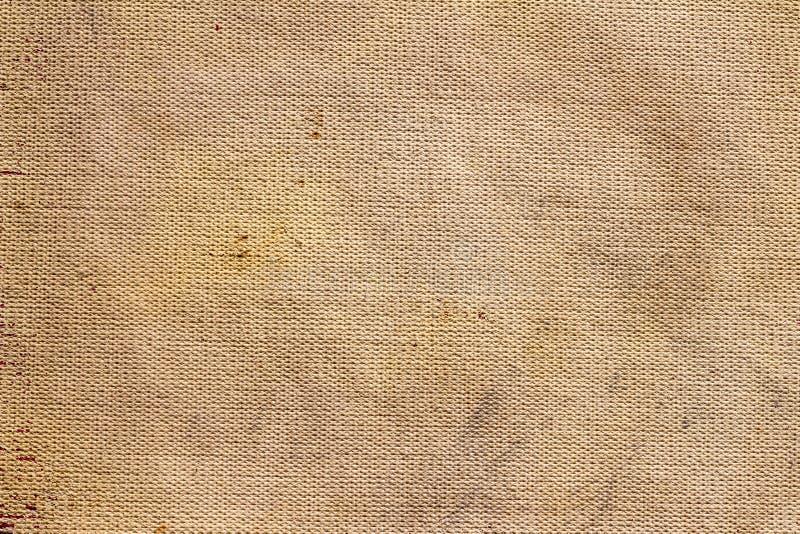 Φυσικό σάκων σχέδιο υφάσματος καμβά σύστασης καφετί ελεύθερη απεικόνιση δικαιώματος