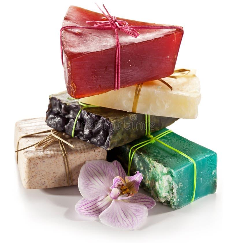 φυσικό σαπούνι κομματιών στοκ φωτογραφίες