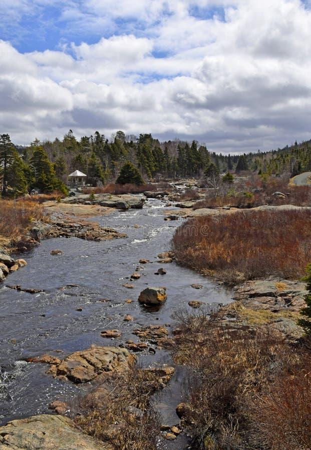 Φυσικό τοπίο ποταμών Manuels την άνοιξη στοκ φωτογραφίες με δικαίωμα ελεύθερης χρήσης