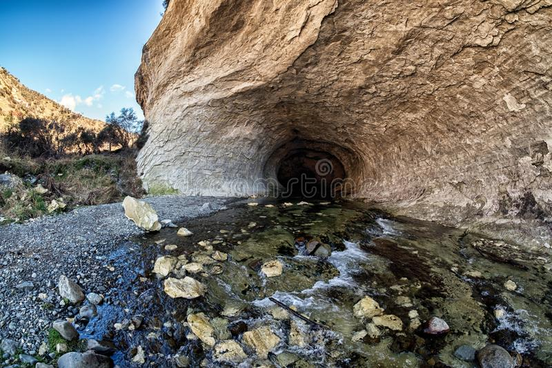 Φυσικό τοπίο της σπηλιάς στο πέρασμα του Άρθουρ, Νέα Ζηλανδία στοκ εικόνες με δικαίωμα ελεύθερης χρήσης