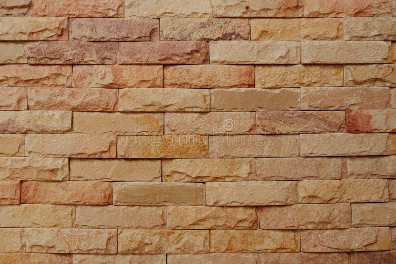 Φυσικό υπόβαθρο τουβλότοιχος ψαμμίτη στοκ φωτογραφία με δικαίωμα ελεύθερης χρήσης