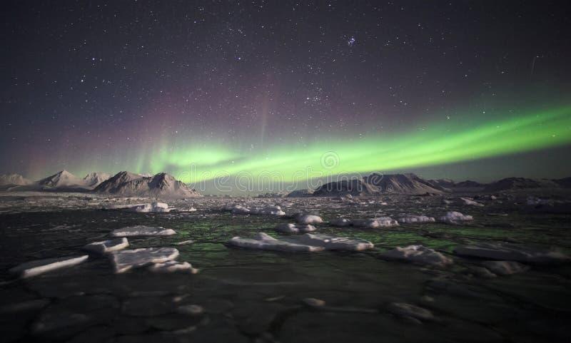 Φυσικό φαινόμενο των βόρειων φω'των στοκ φωτογραφία με δικαίωμα ελεύθερης χρήσης