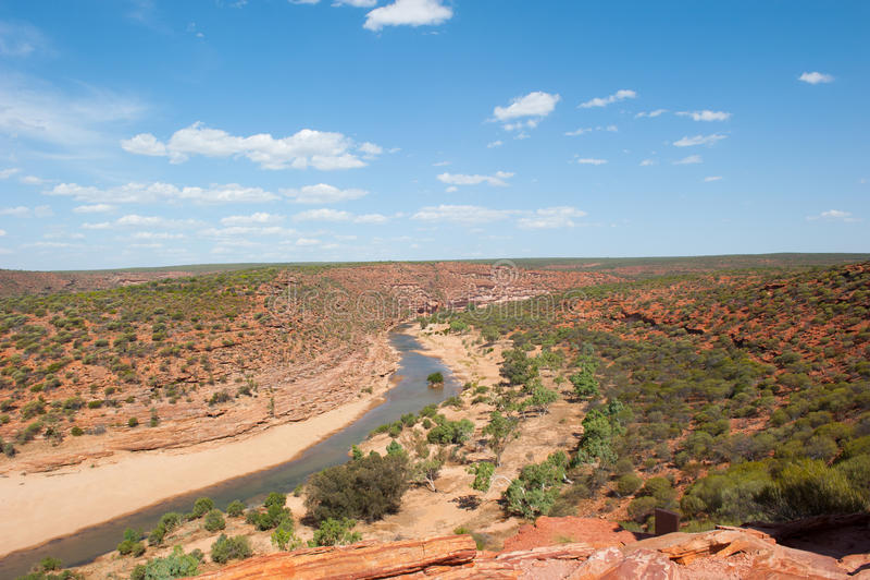 Φυσικό φαράγγι Αυστραλία Kalbarri στοκ εικόνα με δικαίωμα ελεύθερης χρήσης
