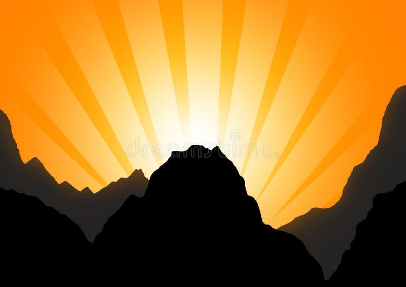φυσικό φως του ήλιου σειράς βουνών σύνθεσης ελεύθερη απεικόνιση δικαιώματος