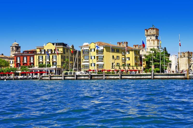 Φυσικό lago Di Garda - Sirmione, Ιταλία στοκ εικόνες με δικαίωμα ελεύθερης χρήσης