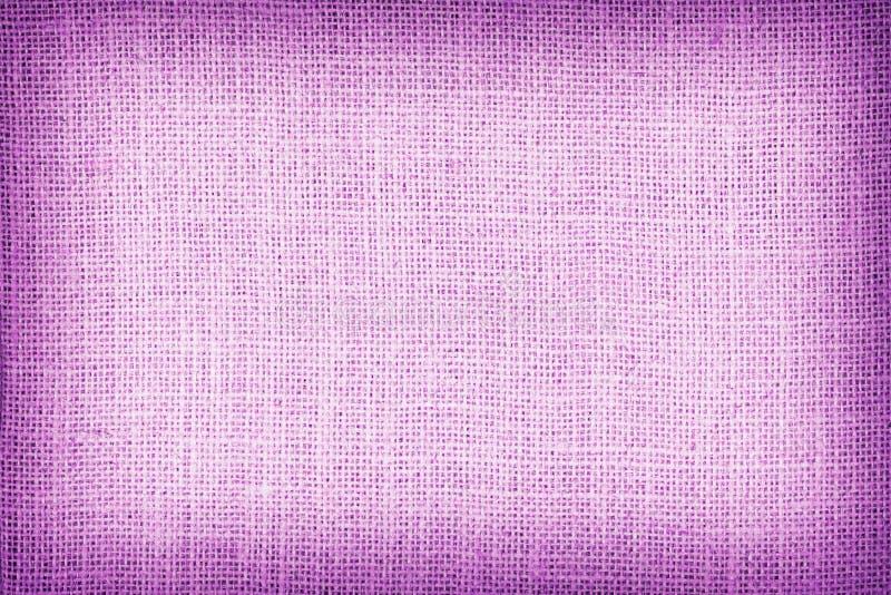 Φυσικό sackcloth κατασκευασμένο για το υπόβαθρο, πορφυρό χρώμα στοκ φωτογραφίες