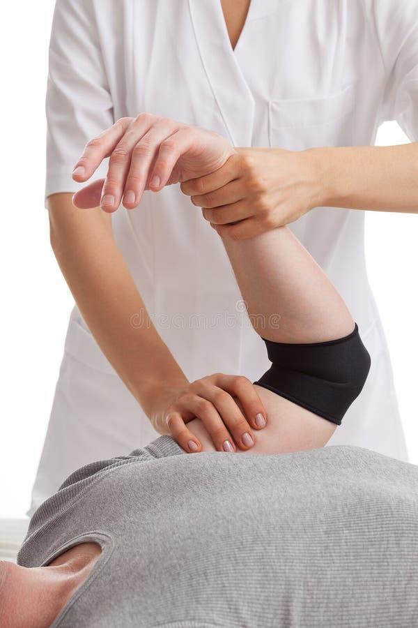 Φυσιοθεραπεία χεριών στοκ εικόνες