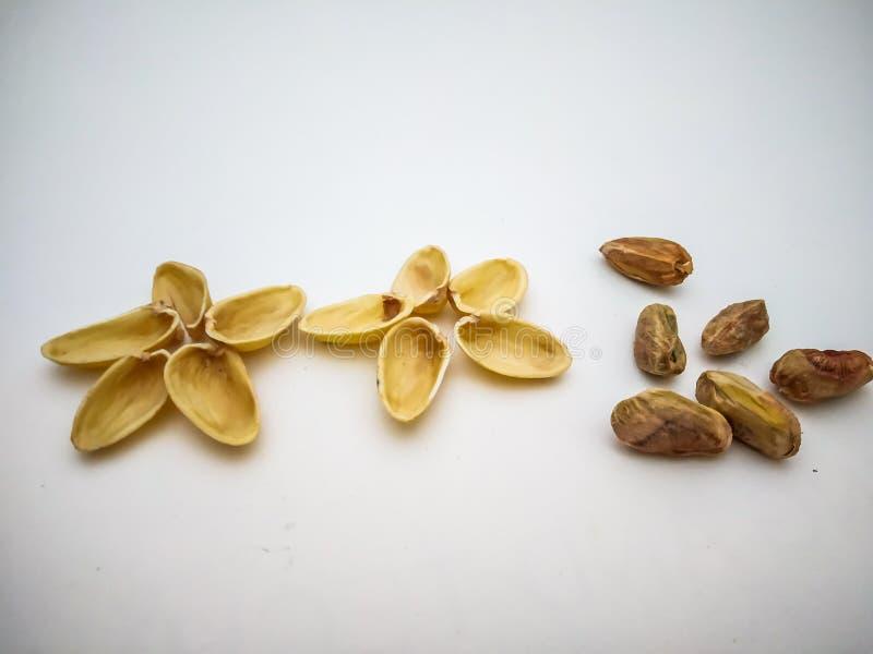 Φυστίκι, Pista στο άσπρο υπόβαθρο στοκ εικόνα με δικαίωμα ελεύθερης χρήσης