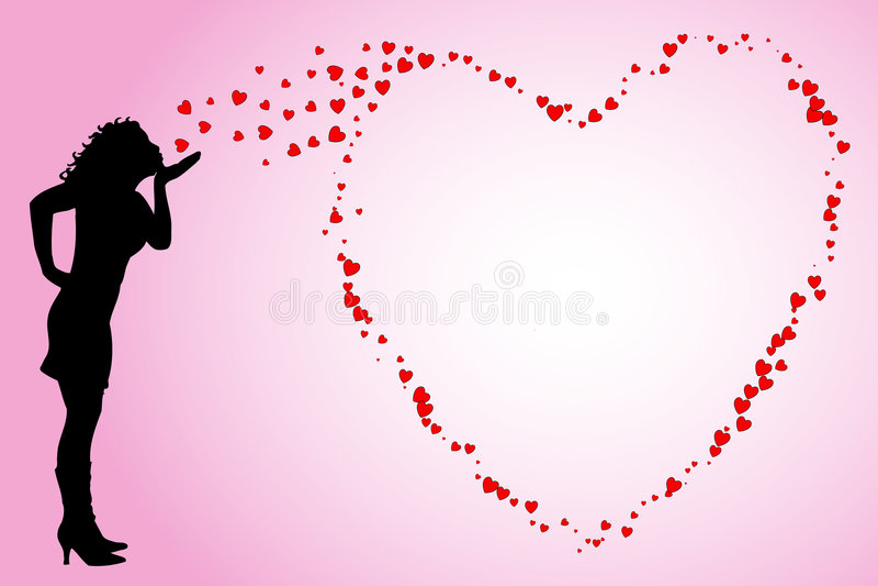 Download φυσώντας φιλιά διανυσματική απεικόνιση. εικονογραφία από κίνδυνος - 396186