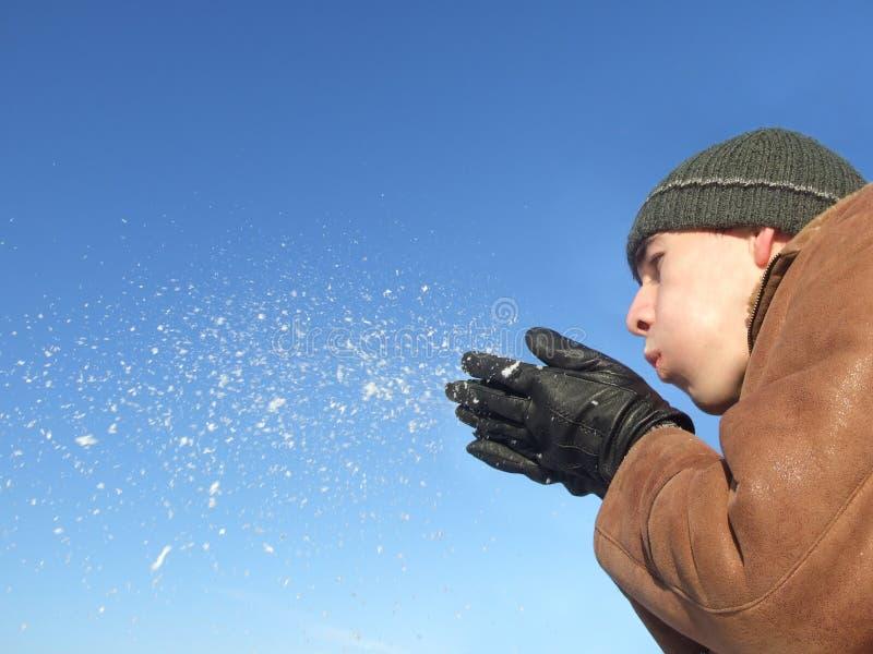 φυσώντας χιόνι στοκ φωτογραφία