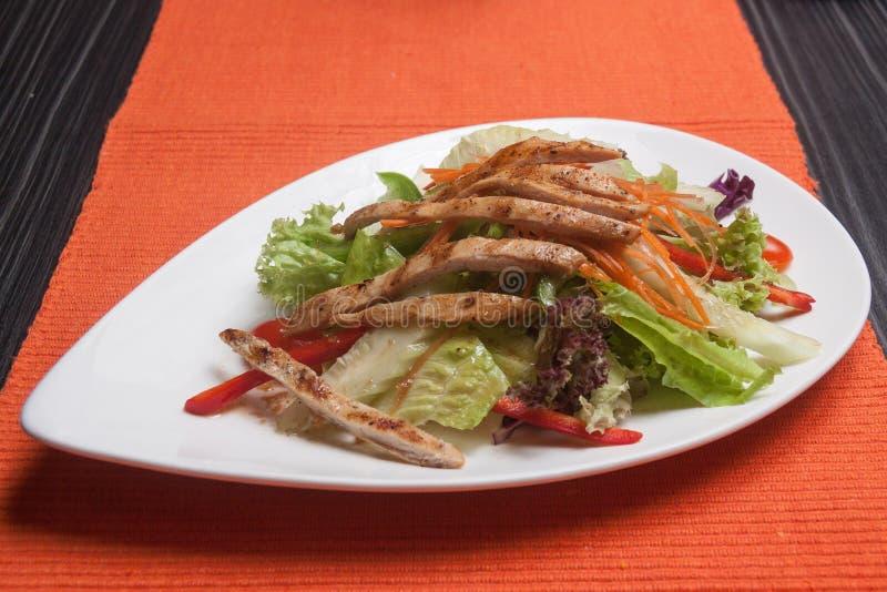 Φυτική σαλάτα κοτόπουλου στοκ φωτογραφία
