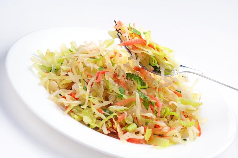 Φυτική σαλάτα με το λάχανο στοκ φωτογραφία