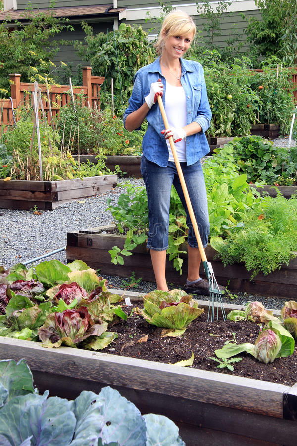 Φυτικός κήπος γυναικών στοκ εικόνα με δικαίωμα ελεύθερης χρήσης
