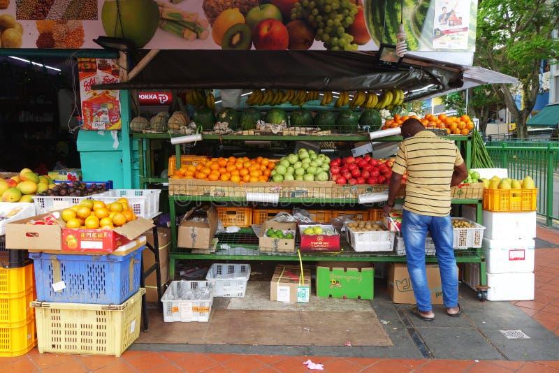 Φυτικό κατάστημα στην αγορά την σε λίγη Ινδία στη Σιγκαπούρη στοκ φωτογραφίες με δικαίωμα ελεύθερης χρήσης