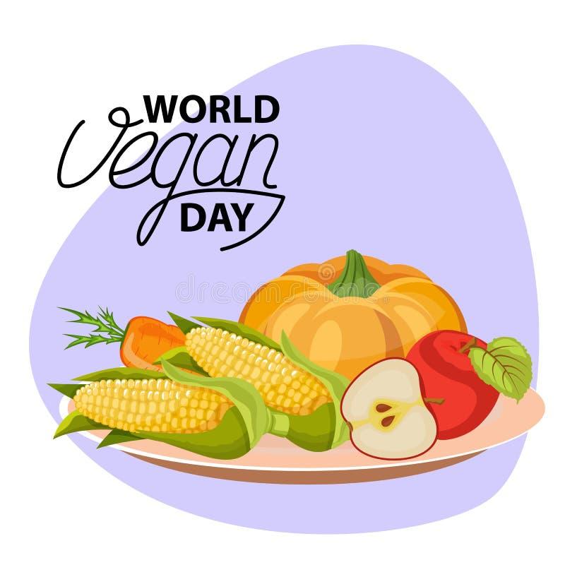 Φυτικό κύπελλο λαχανικά φετών σιτηρεσίο&ups Επίπεδο σχέδιο απεικόνιση αποθεμάτων