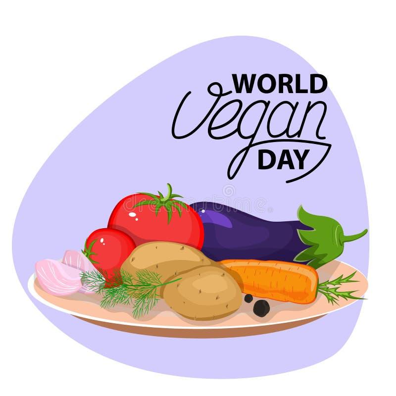 Φυτικό κύπελλο λαχανικά φετών σιτηρεσίο&ups Επίπεδο σχέδιο διανυσματική απεικόνιση