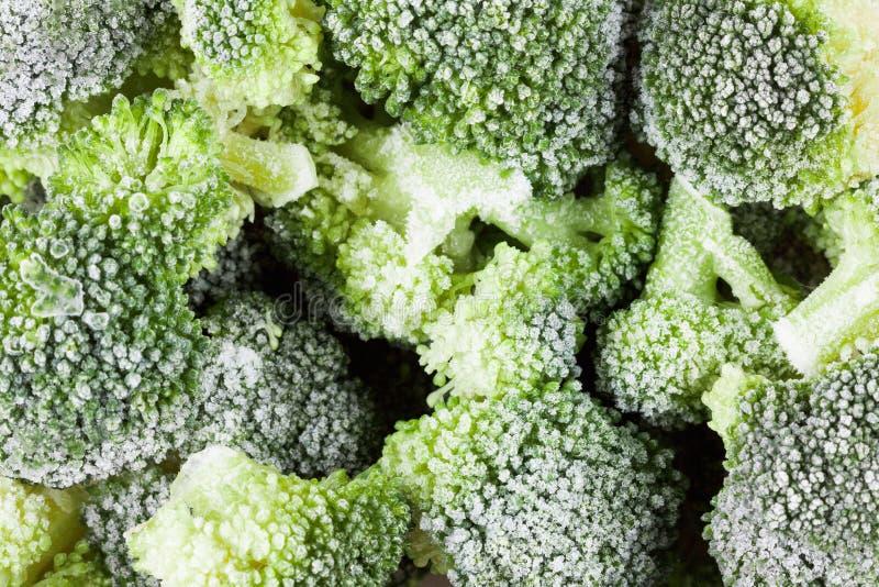 Φυτικό υγιές υπόβαθρο τροφίμων Παγωμένες μπρόκολο βιταμίνες στοκ φωτογραφία με δικαίωμα ελεύθερης χρήσης
