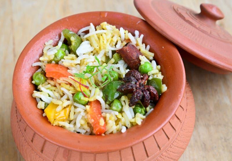 Φυτικό Biryani στοκ εικόνα