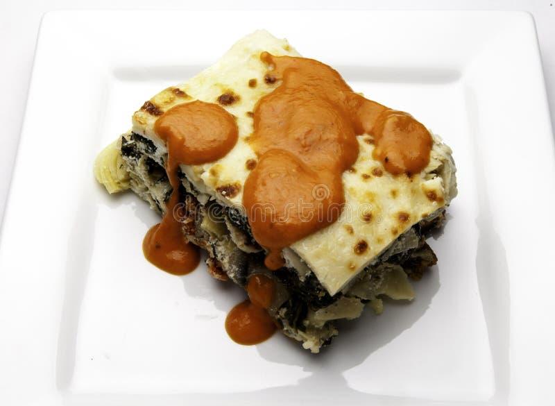 Φυτικό Lasagna στοκ φωτογραφία
