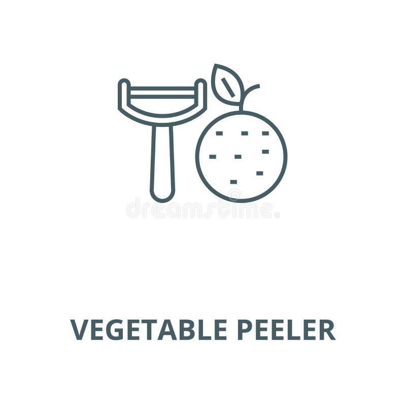 Φυτικό peeler διανυσματικό εικονίδιο γραμμών, γραμμική έννοια, σημάδι περιλήψεων, σύμβολο ελεύθερη απεικόνιση δικαιώματος