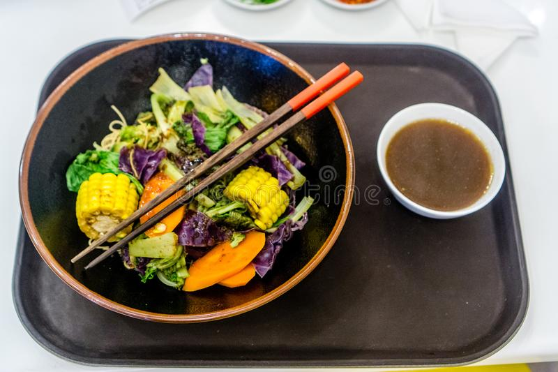 Φυτικό vegan γεύμα στο Βιετνάμ, Ασία στοκ εικόνες
