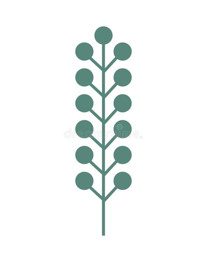 Φυτό με τα φύλλα ελεύθερη απεικόνιση δικαιώματος