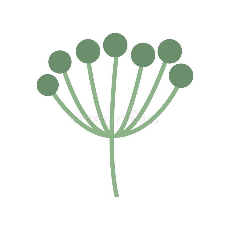 Φυτό με τα φύλλα απεικόνιση αποθεμάτων