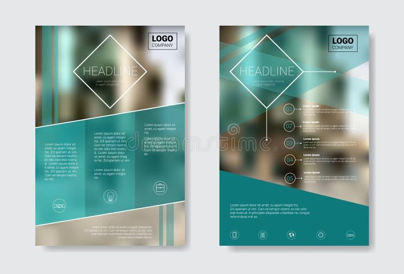 Φυλλάδιο σχεδίου προτύπων, ετήσια έκθεση, περιοδικό, αφίσα, εταιρική παρουσίαση, χαρτοφυλάκιο, ιπτάμενο με το διάστημα αντιγράφων απεικόνιση αποθεμάτων