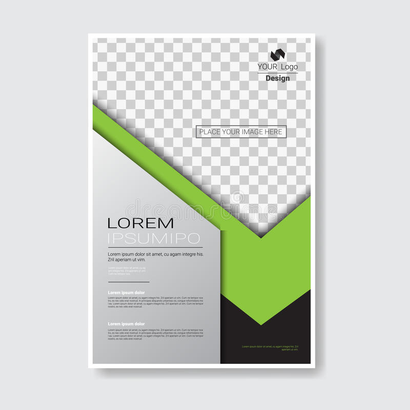 Φυλλάδιο σχεδίου προτύπων, ετήσια έκθεση, περιοδικό, αφίσα, εταιρική παρουσίαση, χαρτοφυλάκιο, ιπτάμενο με το διάστημα αντιγράφων ελεύθερη απεικόνιση δικαιώματος