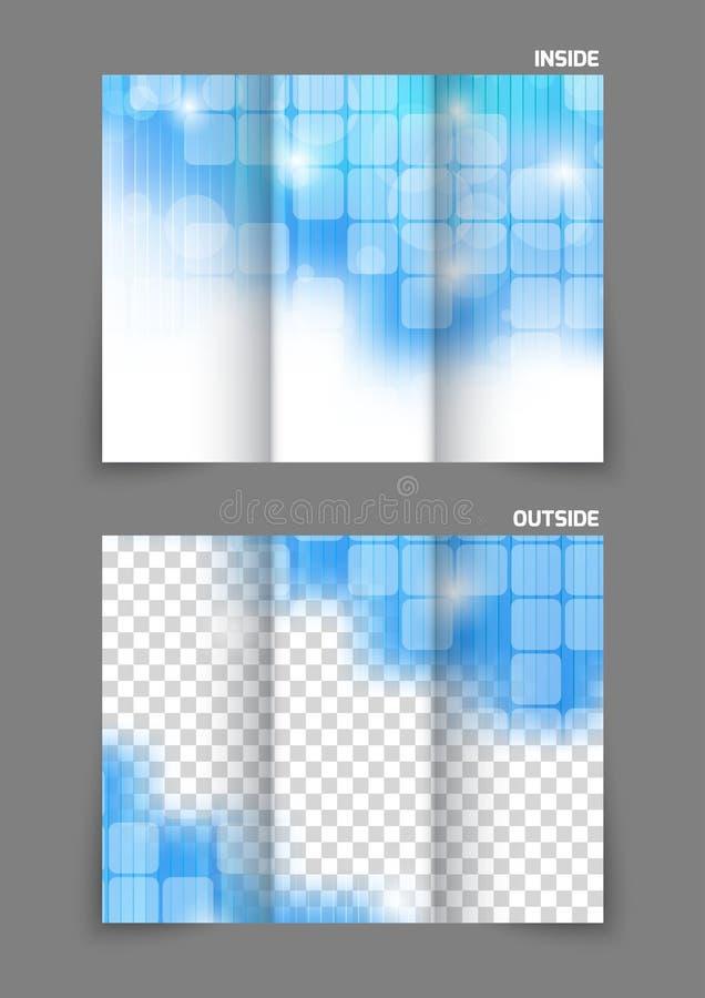 Φυλλάδιο τεχνολογίας trifold διανυσματική απεικόνιση