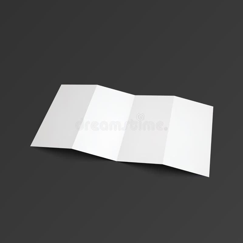 Φυλλάδιο τρεκλίσματος που διπλώνεται σε τέσσερα μέρη διανυσματική απεικόνιση
