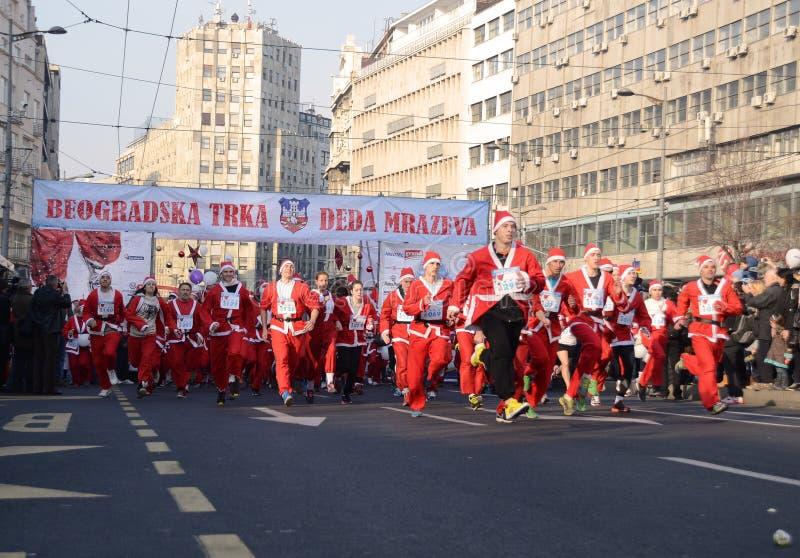Φυλή προτάσεων Santa σε Βελιγράδι, Σερβία στοκ εικόνες
