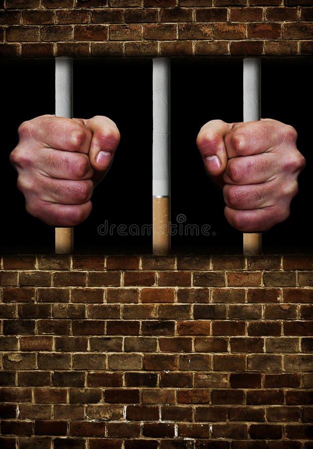 Φυλακισμένος του εθισμού ελεύθερη απεικόνιση δικαιώματος